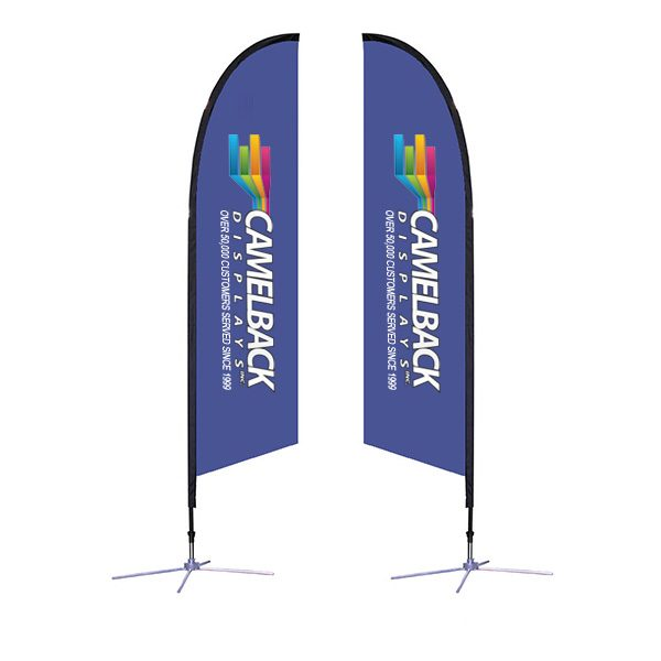 10.5 ft Falcon Outdoor Sail Flag Banner Stand