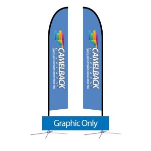 14 ft Falcon Outdoor Sail Flag Banner Graphic