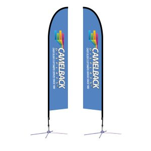 14 ft Falcon Outdoor Sail Flag Banner Stand