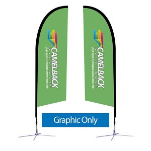 8.25 ft Falcon Outdoor Sail Flag Banner Graphic
