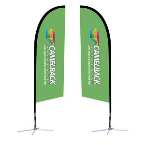 8.25 ft Falcon Outdoor Sail Flag Banner Stand