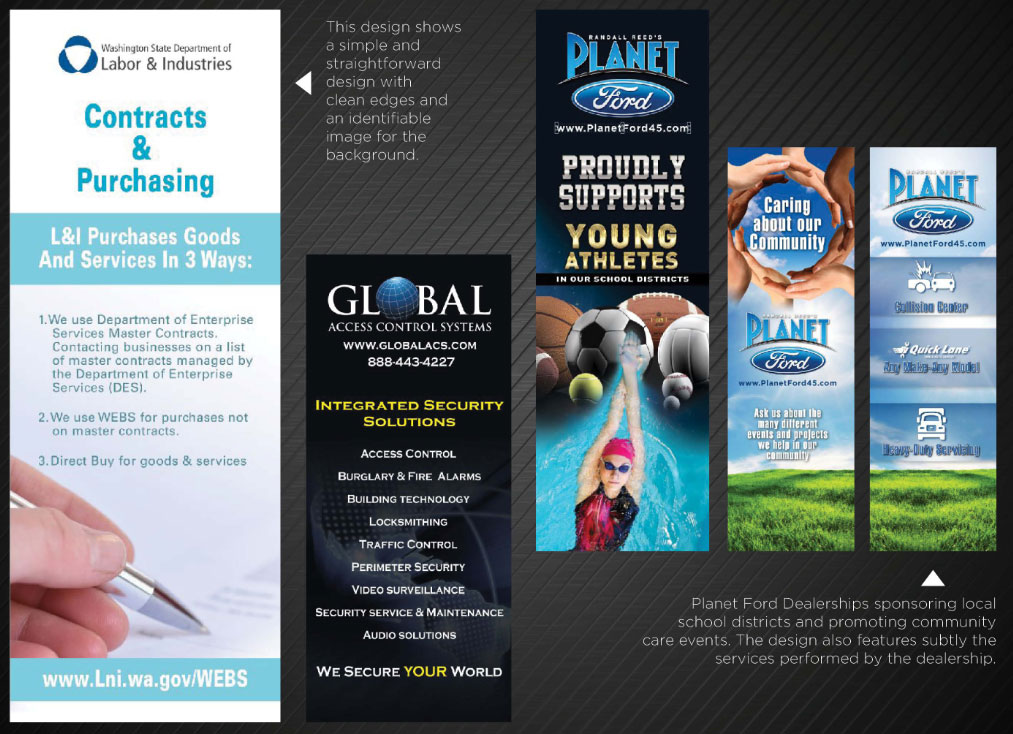 banner stands graphic design