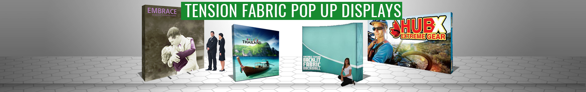 pop up displays tension fabric