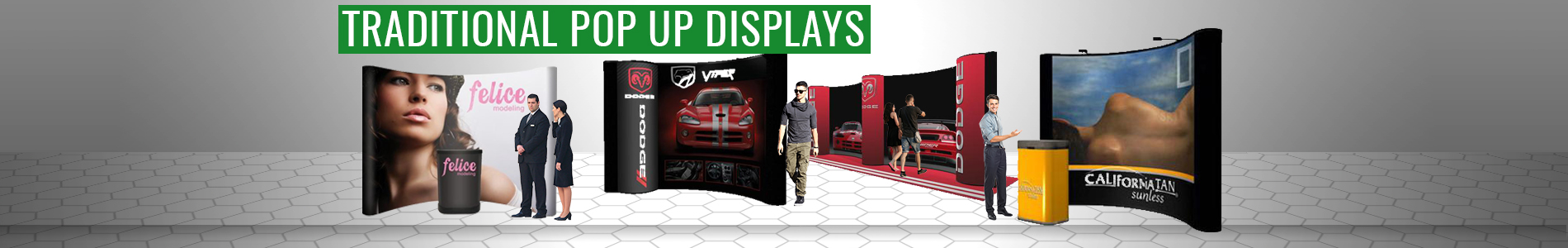 pop up displays traditional