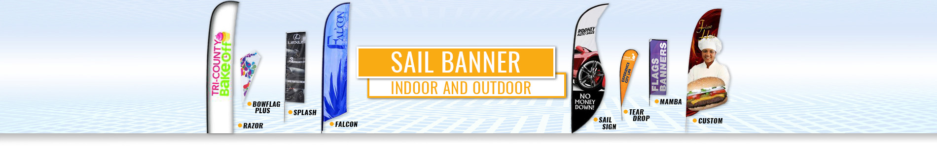 Outdoor Sail Banners & Flying Flag Banners