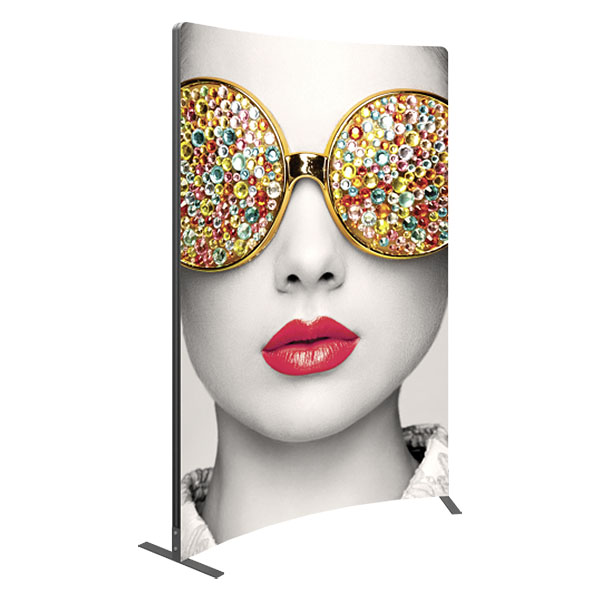 Vector Frame Curved 03 Fabric Banner Stand
