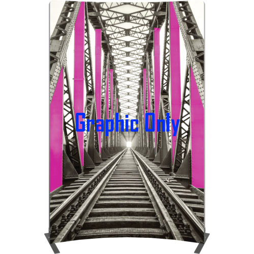 Vector Frame Curved Banner-03 Graphic Only