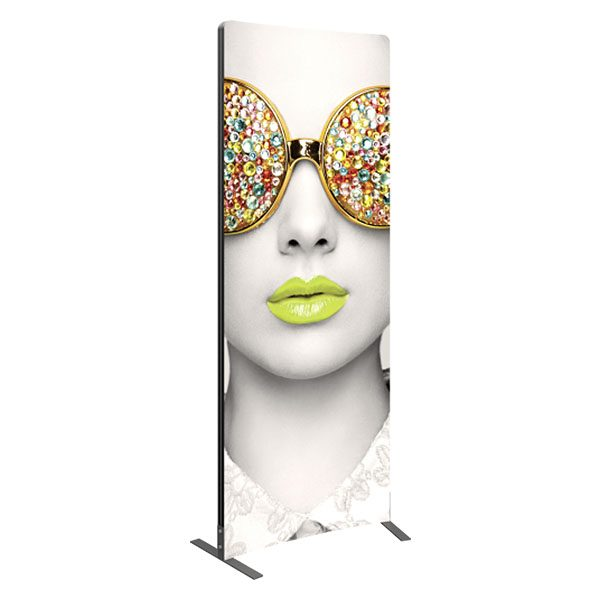 Vector Frame Light Box Curved 01 Fabric Banner Stand Display