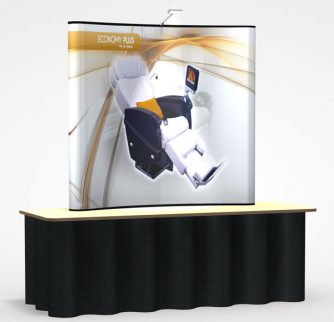 Economy Plus 6' Table Top Display with full color graphics
