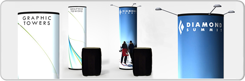 Premium Pop Up Towers both Backlit and Frontlit