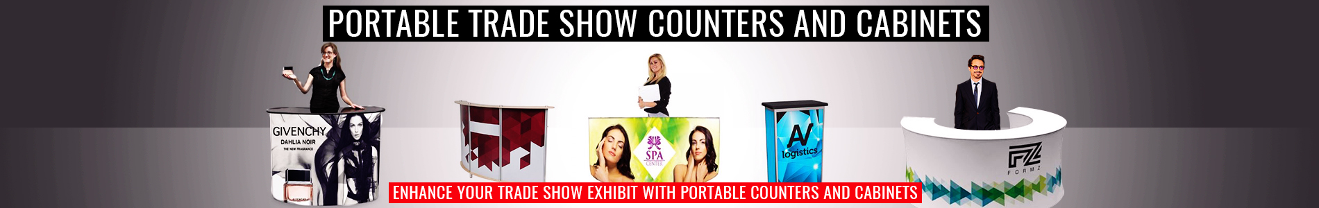 Portable Trade Show Counters & Cabinets