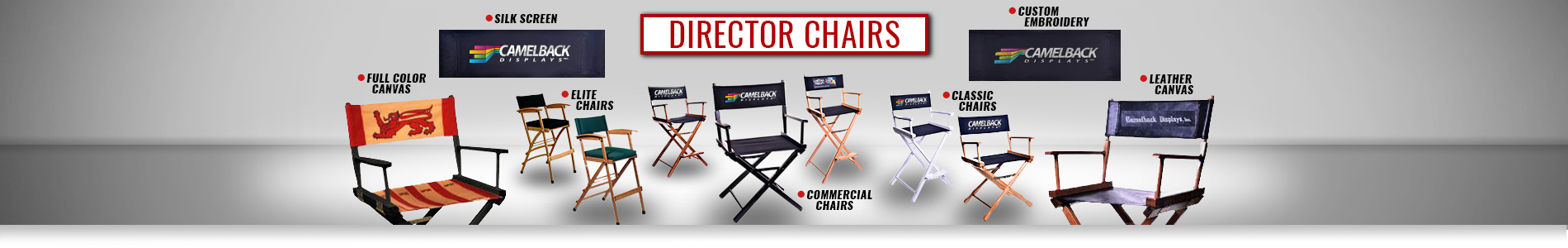 Gold Metal Commercial Director Chairs