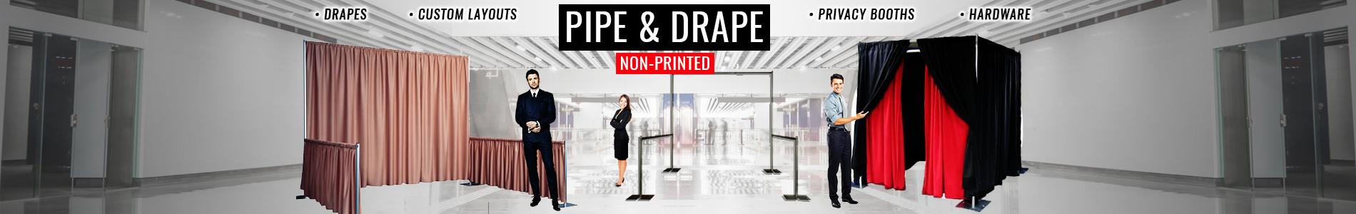Pipe & Drape Non-Printed