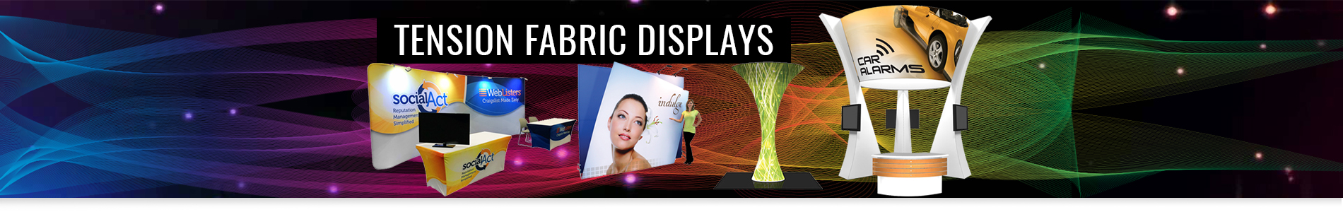 Tension Fabric Displays Backwall