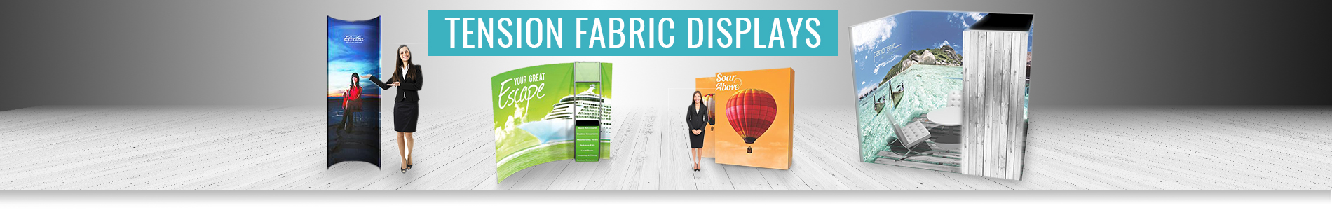 Tension Fabric Displays Media