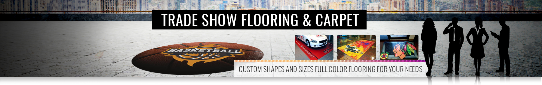 Trade Show Flooring and Logo Mats