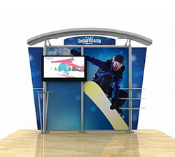 10ft Metal Fusion Timberline Monitor Display Product