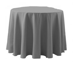 90in Poly Popline Round Non Printed Table Throw