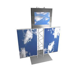 Truss Monitor Holder and Banner Product