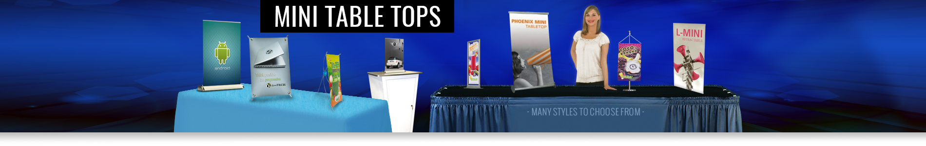 Mini Table Top Displays