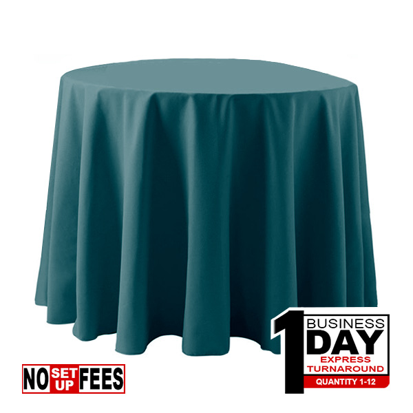 Poly Popling Rounded table throw cover