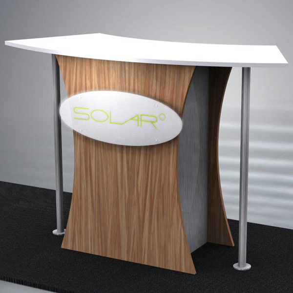 Solar Knock Down Free Standing Counter 1