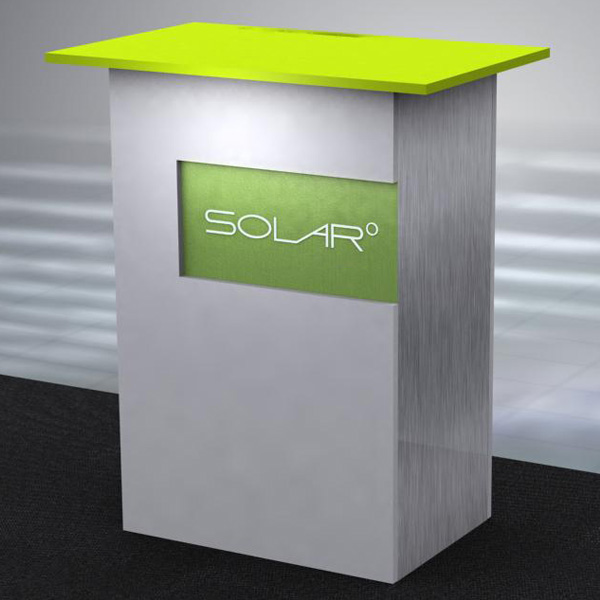 Solar Knock Down Free Standing Counter 2