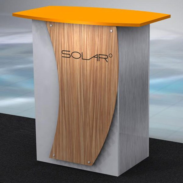 Solar Knock Down Free Standing Counter 5