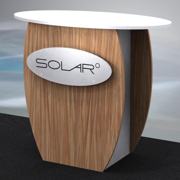 Solar Knock Down Free Standing Counter 6