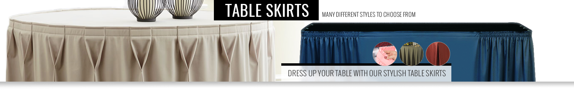 Trade Show Table Skirts