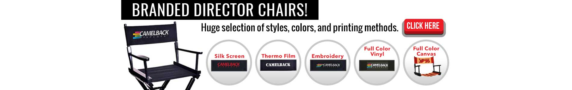 Branded Director Chairs