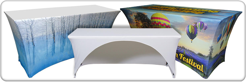 Digitally Printed Spandex Contour Table Covers
