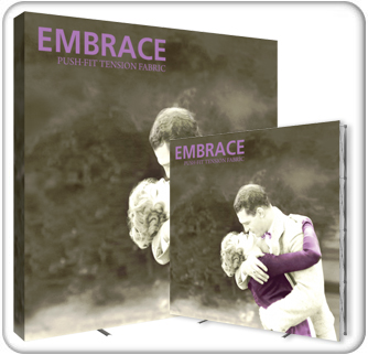 embrace 10ft push fit tension fabric display product