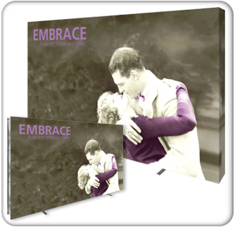 embrace 12ft push fit tension fabric display product