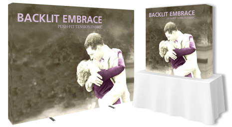 Embrace Backlit Tension Fabric Displays