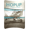hopup 10ft curved tension fabric display full fitted graphic front