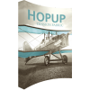 hopup 10ft curved tension fabric display full fitted graphic left