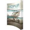 hopup 10ft curved tension fabric display full fitted graphic right