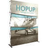 hopup 10ft straight tension fabric display front graphic left