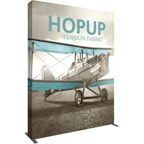 hopup 10ft straight tension fabric display full fitted graphic left