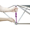 hopup 10ft tension fabric display locking arm instructions
