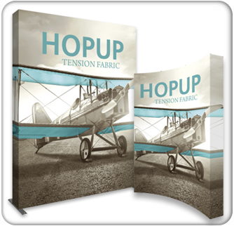 hopup 10ft tension fabric display product