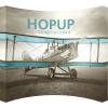 HopUp 13ft Curved Tension Fabric Display front