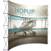 HopUp 13ft Curved Tension Fabric Display front graphic left