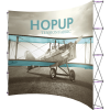 HopUp 13ft Curved Tension Fabric Display front graphic right