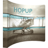 HopUp 13ft Curved Tension Fabric Display left