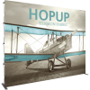 HopUp 13ft Straight Tension Fabric Display front graphic left