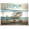 HopUp 13ft Straight Tension Fabric Display full fitted graphic front