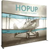HopUp 13ft Straight Tension Fabric Display full fitted graphic left