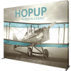HopUp 13ft Straight Tension Fabric Display full fitted graphic right